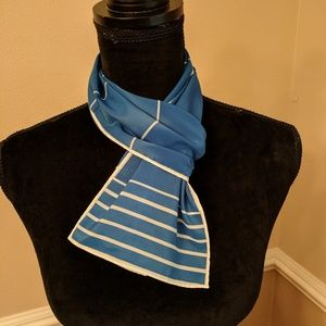 Vintage Blue and White Scarf